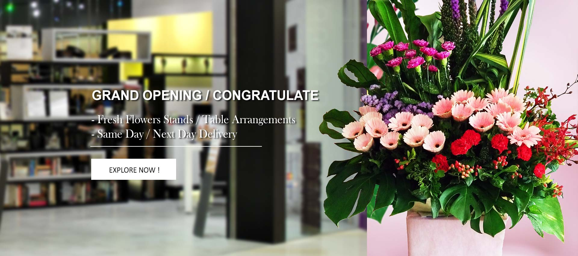 Grand Opening | Fresh Flowers Opening Stand & Congratulate Flowers | Myflowerflorist.com