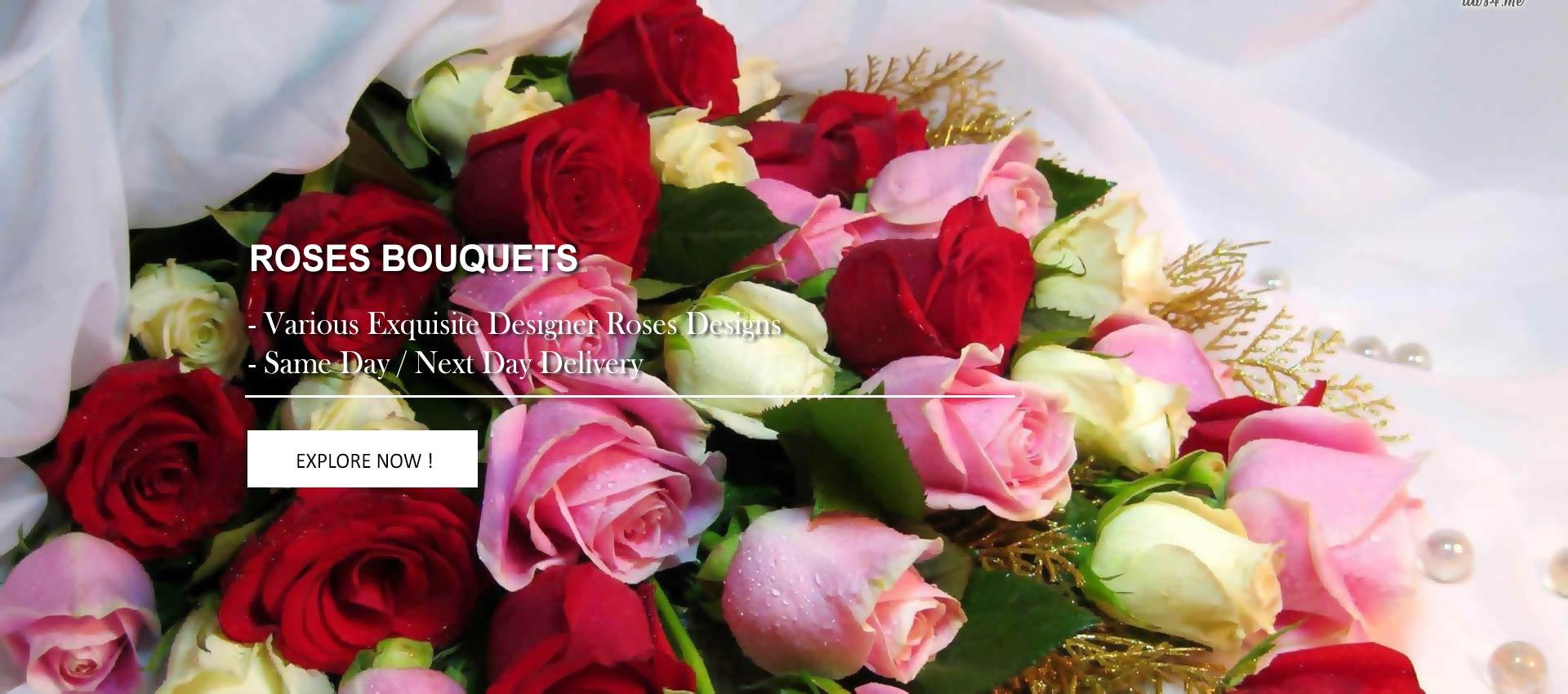 Roses Bouquets & Arrangements | Myflowerflorist