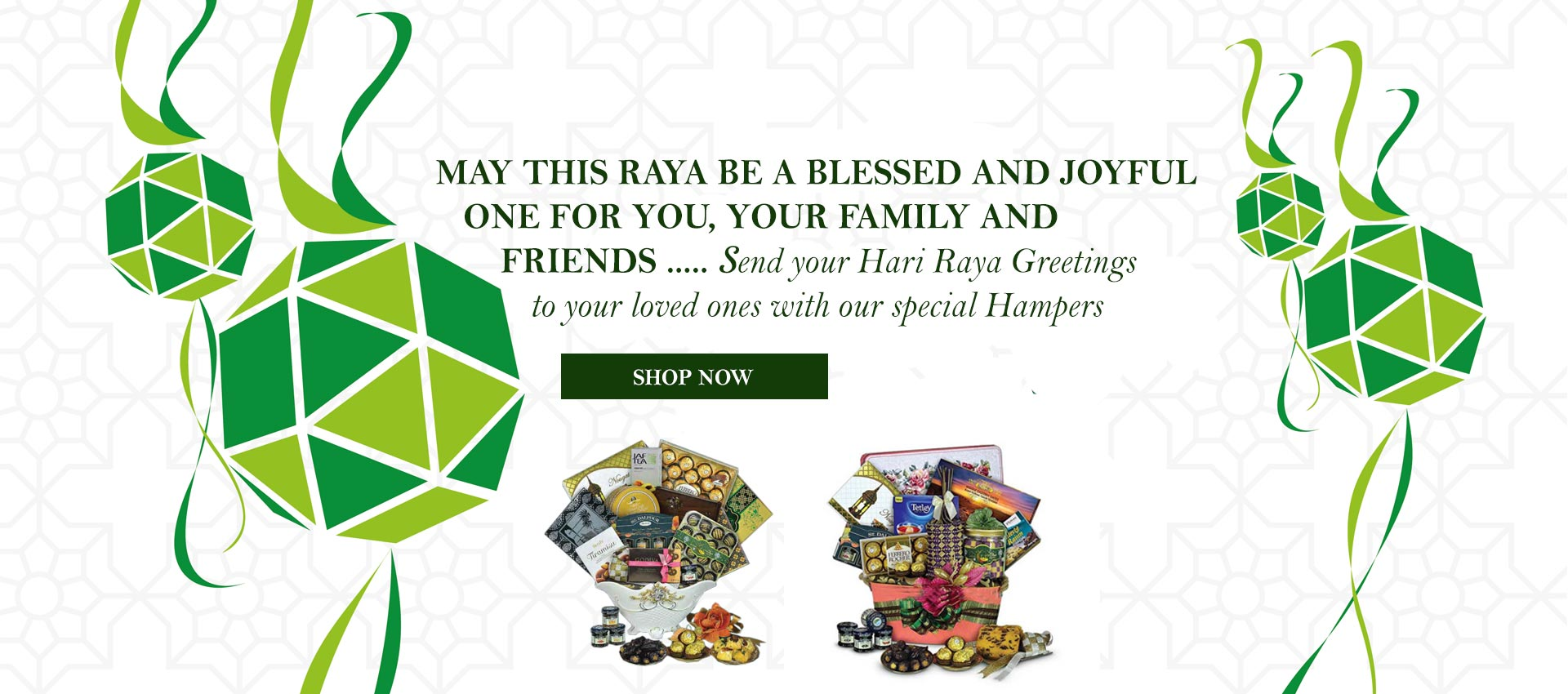 Send your raya greetings to your love ones, friends & business associates.