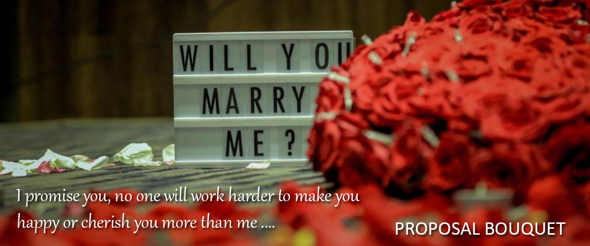 Marriage Proposal Flowers