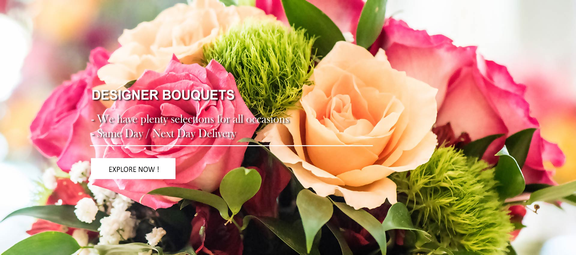 Designer Bouquet | Fresh Flowers Bouquet for all occasions | Roses, Lilies, Gerberas, Orchids, Tulips, Sunflowers, Carnations | Myflowerflorist.com