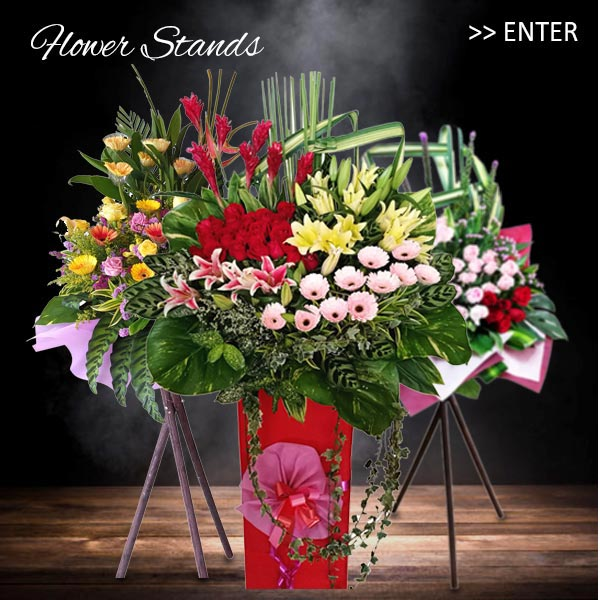 Grand Opening Flower Stands