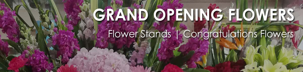 Grand Opening Flower Stands | Congratulations Flowers